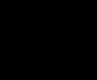 Canvas alfabet banner blauw Meri Meri