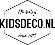 Hoeslaken ledikant 60x120cm Little Lof Misty Pink Witlof for Kids