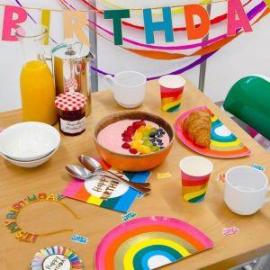 Bekertjes regenboog Birthday Brights (12st) Talking Tables