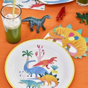 Dinosaurus servetten (16st) Party Dinosaurs Talking Tables