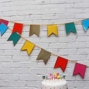 Slinger regenboog (3m) Birthday brights Talking Tables