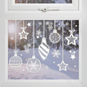 Raamstickers kerstballen Deck The Halls Ginger Ray