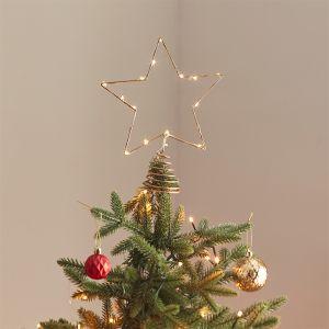 Piek ster goud met lichtjes Deck The Halls Ginger Ray