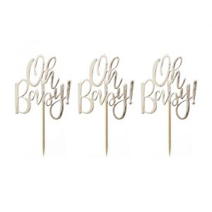 Cupcake toppers (12st) Oh Baby! Ginger Ray