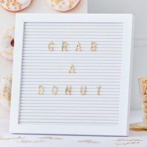 Letterbord met letters Gold Wedding Ginger Ray