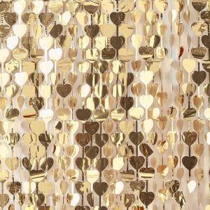 Backdrop hartjes Gold Wedding Ginger Ray