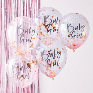 Ginger Ray baby girl confetti ballonnen (5st) Twinkle Twinkle product