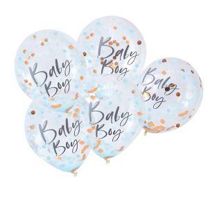 Confetti ballonnen Baby Boy Twinkle Twinkle (5st) Ginger Ray