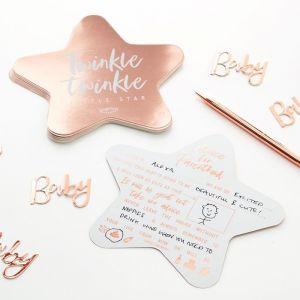 Babyshower invulkaarten Twinkle Twinkle (10 st) Ginger Ray product sfeer