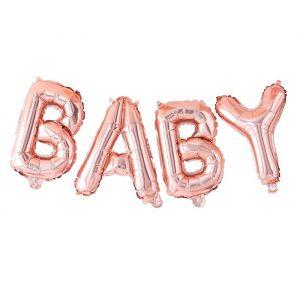 Folieballon Baby roségoud Twinkle Twinkle Ginger Ray