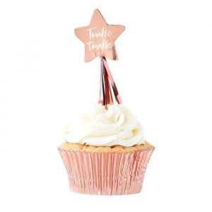 Cupcake toppers Twinkle Twinkle (12st) Ginger Ray