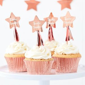 Cupcake toppers Twinkle Twinkle Ginger Ray sfeer
