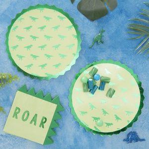 Dinosaurus bordjes Roarsome (8 st) Ginger Ray sfeer