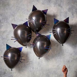 Ballonnen zwarte kat Let's Get Batty (5st) Ginger Ray