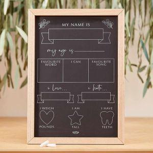 Milestone krijtbord Botanical Baby Ginger Ray