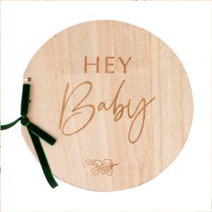 Gastenboek hout Hey Baby Botanical Baby Ginger Ray