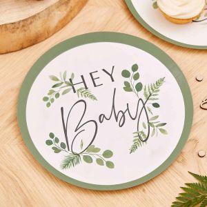 Bordjes Hey Baby Botanical Baby (8st) Ginger Ray
