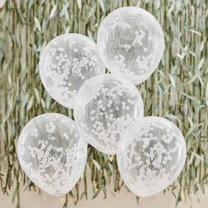 Confetti ballonnen Hey Baby Botanical Baby (5st) Ginger Ray