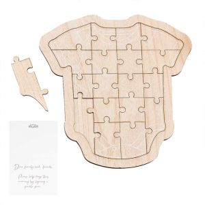Gastenboek houten puzzel romper Botanical Baby Ginger Ray