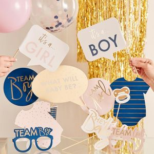 Party props met stickers Gender Reveal (10st) Ginger Ray