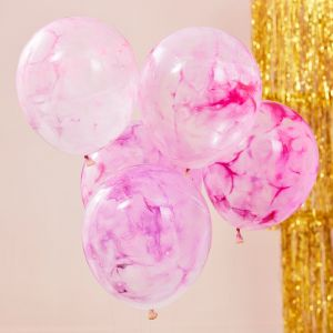 Ballonnen marmer DIY kit Mix It Up (5st) Ginger Ray