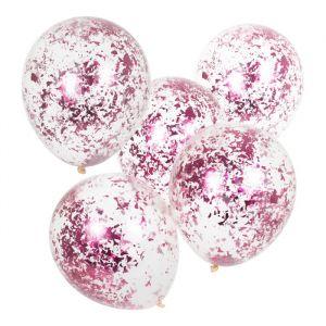 Confetti ballonnen roze Mix It Up (5st) Ginger Ray