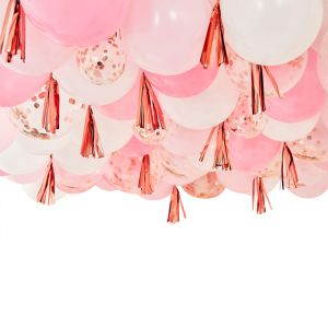Ballonnen plafond kit roze Mix It Up Ginger Ray