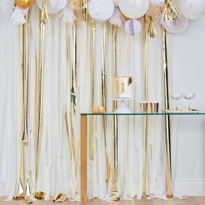 Streamer backdrop metallic goud Mix It Up Ginger Ray