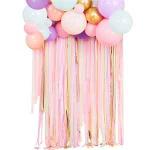 Backdrop pastel streamers en ballonnen Mix It Up Ginger Ray