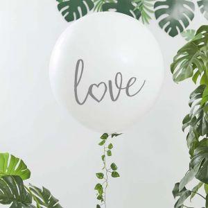 Mega ballon Love met klimop (90cm) Ginger Ray
