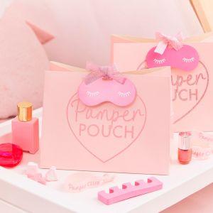 Tasjes roze Pamper Party (5st) Ginger Ray