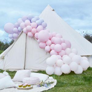 Ballonnenboog groot paars & roze Ginger Ray