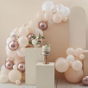 Ballonnenboog peach & roségoud Ginger Ray