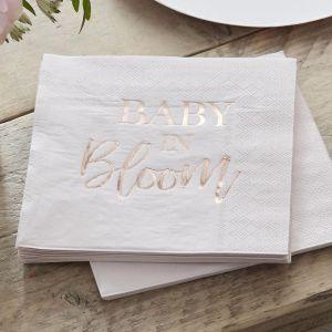 Servetten Baby in Bloom (16st) Ginger Ray