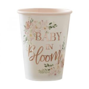 Bekertjes Baby in Bloom (8st) Ginger Ray