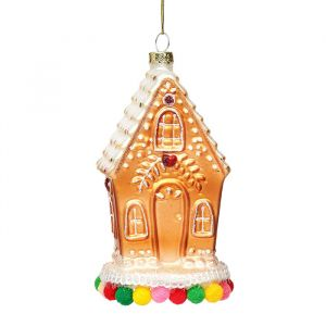 Kersthanger gingerbread huisje Sass & Belle