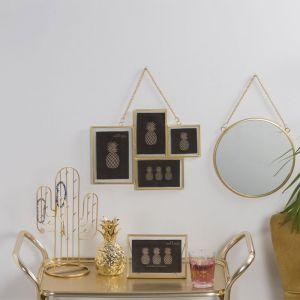 Spiegel rond goud (25cm) Sass & Belle