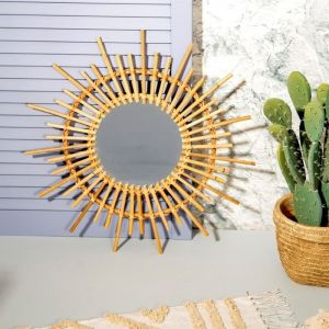 Rotan spiegel starburst Sass & Belle
