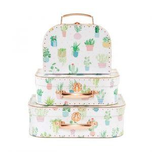 Kofferset Pastel Cactus (3st) Sass & Belle
