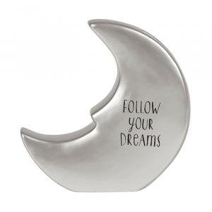 Sweet Dreams spaarpot maan zilver Sass & Belle