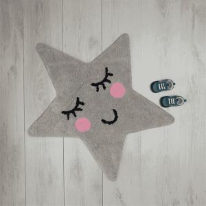 Vloerkleedje Sweet Dreams ster grijs Sass & Belle