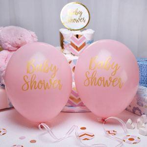 Babyshower ballonnen Pattern Works Pink (8st)