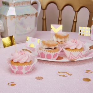 Cupcake prikkers Pattern Works Pink (20st)
