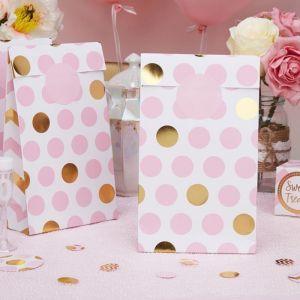 Uitdeelzakjes dots Pattern Works Pink (5st)