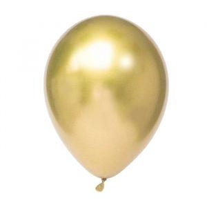 Chroom ballonnen goud (10st)
