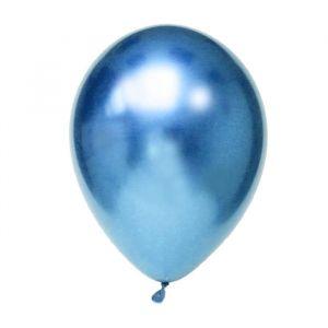 Chroom ballonnen blauw (10st)