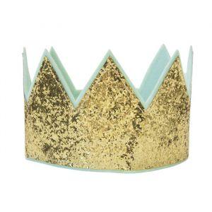 Glitter kroon goud verstelbaar Global Affairs