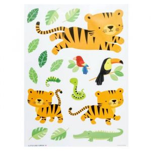 Muurstickers Jungle Tijger A Little Lovely Company
