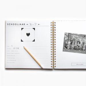 Schoolfotoboek linnen ivoor