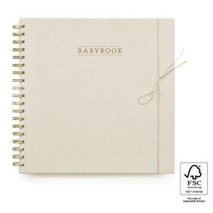 Babyboek linnen ivoor